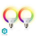 Wi-Fi smart LED-lamp Full-Color   (2 Lampen)